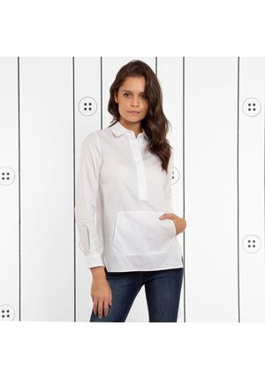 The Trapezoid Pullover - Cloud White