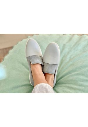 Blue / Grey Loafers